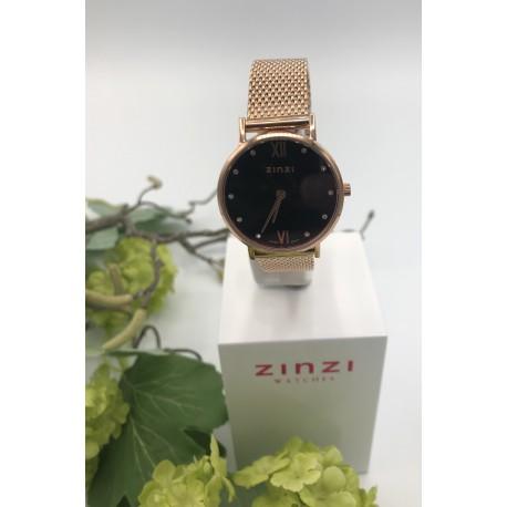 ZinZi Lady Crystal rosé met zwarte wijzerplaat ZIW 632M