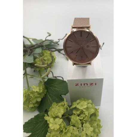 ZinZi Retro horloge met roségoudkleurige wijzerplaat ZIW405M