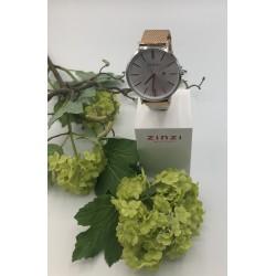 ZinZi Roman Rosékleurig horloge met zilverkleurige kast ZIW512MR