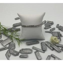 ZinZi zilveren armband, platte schakel ZIA 1727