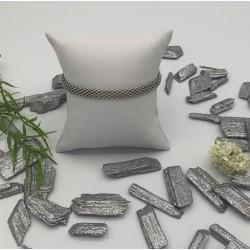 Zilveren fantasie armband met modieuze schakel ZIA 879