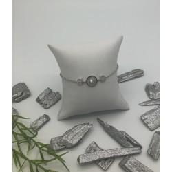 ZinZi Zilveren Armband met Parelmoer en Zirkonia's