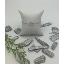 ZinZi zilveren armbandje met 2 open rondjes 1 met zirkonia's ZIA 1782