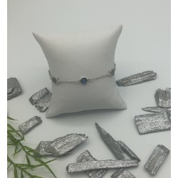Zilveren Fantasie Armband Blauw en Turquoise ZIA 2000