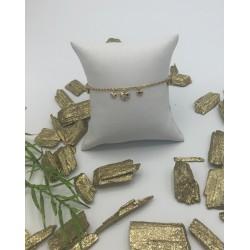 ZinZi Goldplated Fantasie Armband met Hartjes ZIA 1916G