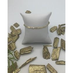 ZinZi Goldplated Armband, Paperclip Schakel, Baquette Zirkonia ZIA 1993G