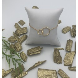 ZIA Goldplated Armband met Ronde Vormen ZIA 1278G