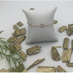 ZinZi Goldplated Armband met 3 Open Hartjes ZIA 1188G