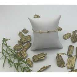 ZinZi Goldplated Fantasie Armband met Zirkonia's