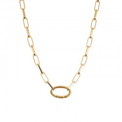 """Collier """"Square Chain"""" goud"""