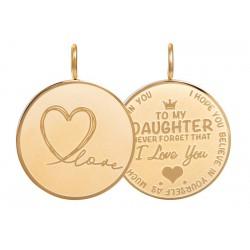 "Pendant ""Daughter Love"" groot goud"