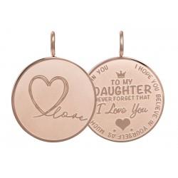 """Hanger """"Daughter Love"""" groot rosé"""