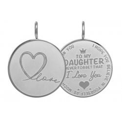 """Hanger """"Daughter Love"""" groot zilver"""