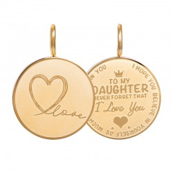 "Hanger ""Daughter Love"" klein goud"
