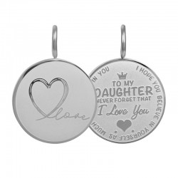 "Hanger ""Daughter Love"" klein zilver"