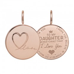 "Hanger ""Daughter Love"" klein rosé"