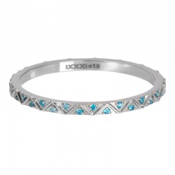 """IXXXI vulring 2mm """"Bohemian Aqua"""" zilver"""