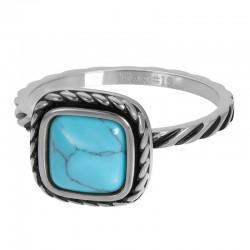 "IXXXI vulring 2mm ""Summer Turquoise"" zilver"