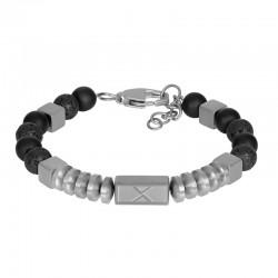 """IXXXI MEN armband """"Fern"""" mat zilver"""