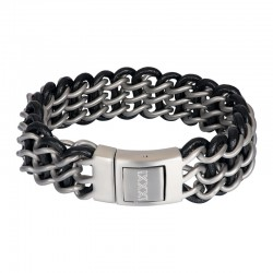 "IXXXI MEN armband ""Remy"" mat zilver"