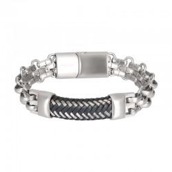 "IXXXI MEN armband ""Grenoble"" mat zilver"