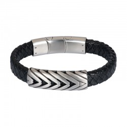 "IXXXI MEN armband ""Bodhi"" mat zilver"