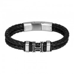 "IXXXI MEN armband ""River"" mat zilver"