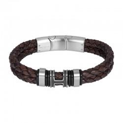 "IXXXI MEN armband ""Ocean"" mat zilver"