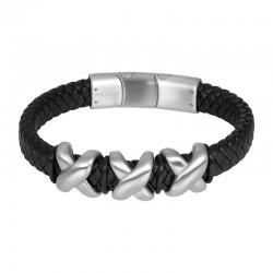 "IXXXI MEN armband ""Sky"" mat zilver"