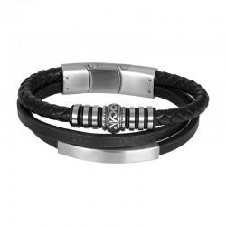 """IXXXI MEN armband """"Clyde"""" mat zilver"""