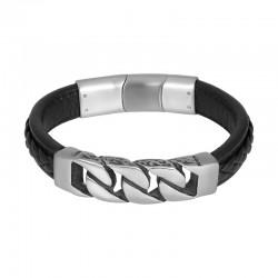 "IXXXI MEN armband ""Rain"" mat zilver"