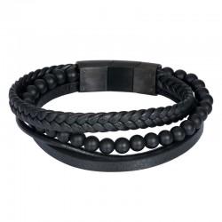 "IXXXI MEN armband ""Calvin"" mat zwart"