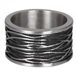 """IXXXI MEN ring """"Chrysler"""" mat zilver"""