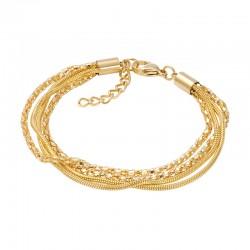 ixxxi armband slang en popcorn goud