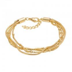 ixxxi armband slang en knoop goud