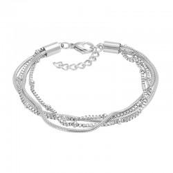 ixxxi armband slang en knoop zilver