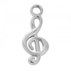 ixxxi charm muzieksleutel zilver