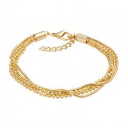 ixxxi enkelbandje slang/ bal goud