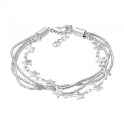 ixxxi enkelbandje slang / ster zilver