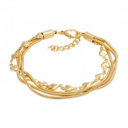 ixxxi enkelbandje slang / hart goud
