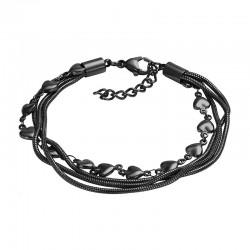 ixxxi enkelbandje slang / hart zwart
