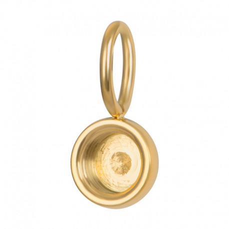 ixxxi charm top part base - goud ca 8mm