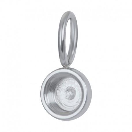 ixxxi charm top part base - zilver ca 8mm