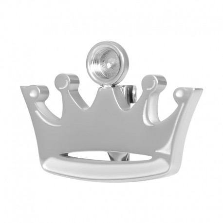 ixxxi broche top part base kroon zilver