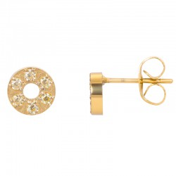 ixxxi oorstekers circle stone - goud 6mm