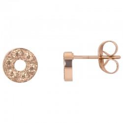 ixxxi oorstekers circle stone - rosé 6mm