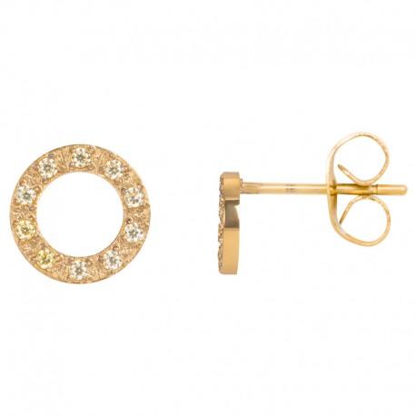 ixxxi oorstekers circle stone - goud 10mm