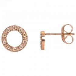 ixxxi oorstekers circle stone - rosé 10mm
